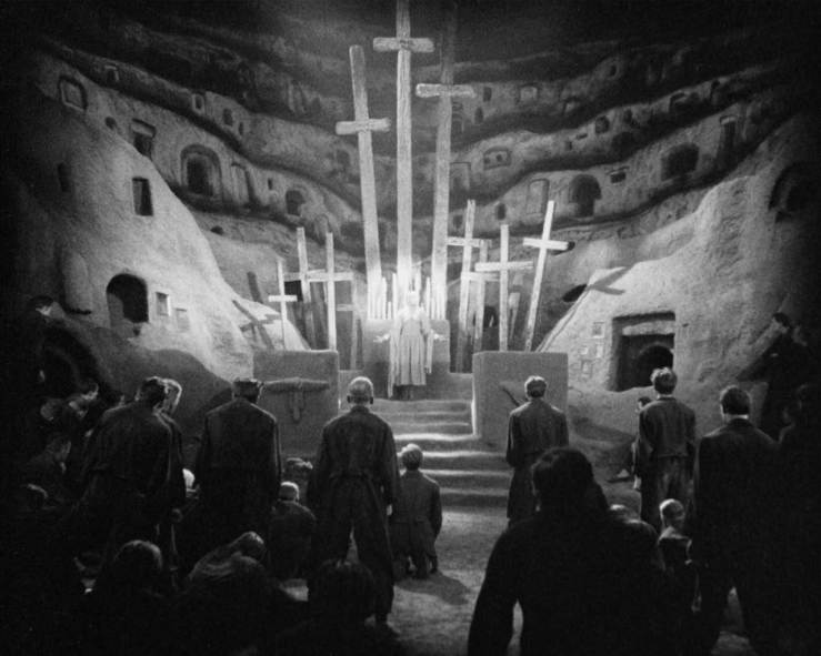 The working class gathers in a church in Metropolis