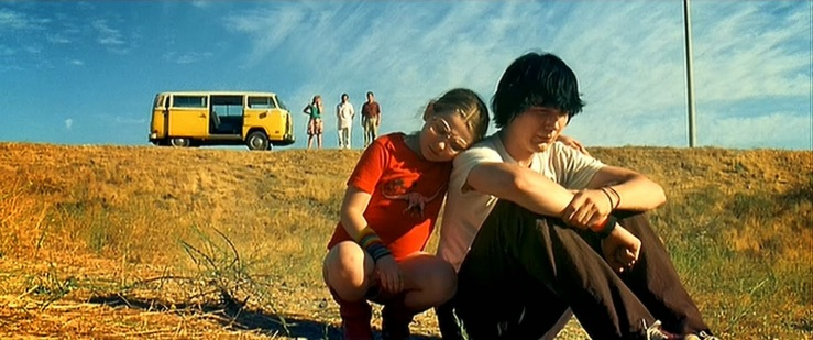 Olive comforts her brother Dwayne in Little Miss Sunshine