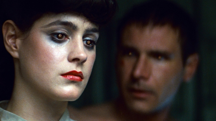 Rachael looks pensive in Blade Runner