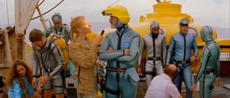 Jane interviews Steve Zissou in The Life Aquatic