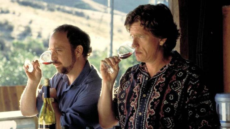 Miles lectures Jack on how to drink wine in Sideways