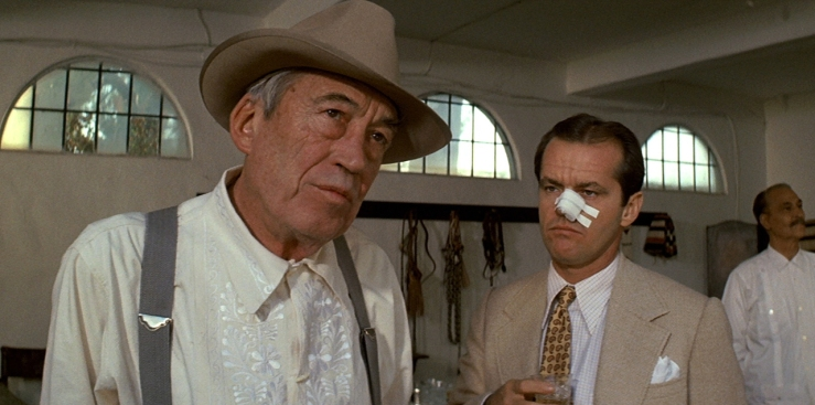 John Huston as Noah Cross in Chinatown