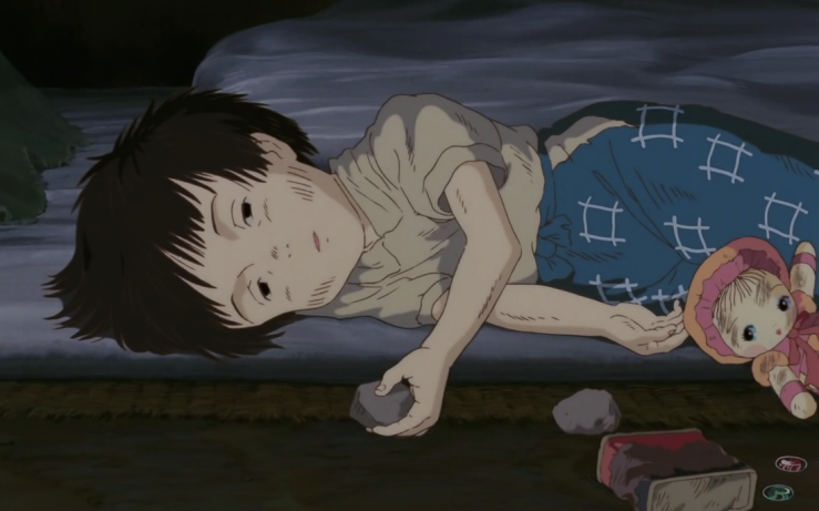 Setsuko suffers from hunger in Grave of the Fireflies