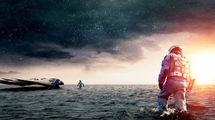 Astronauts explore a foreign planet in Interstellar