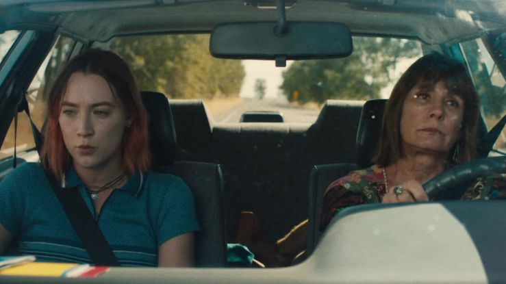 Lady Bird and Marion sit in a car in the movie Lady Bird
