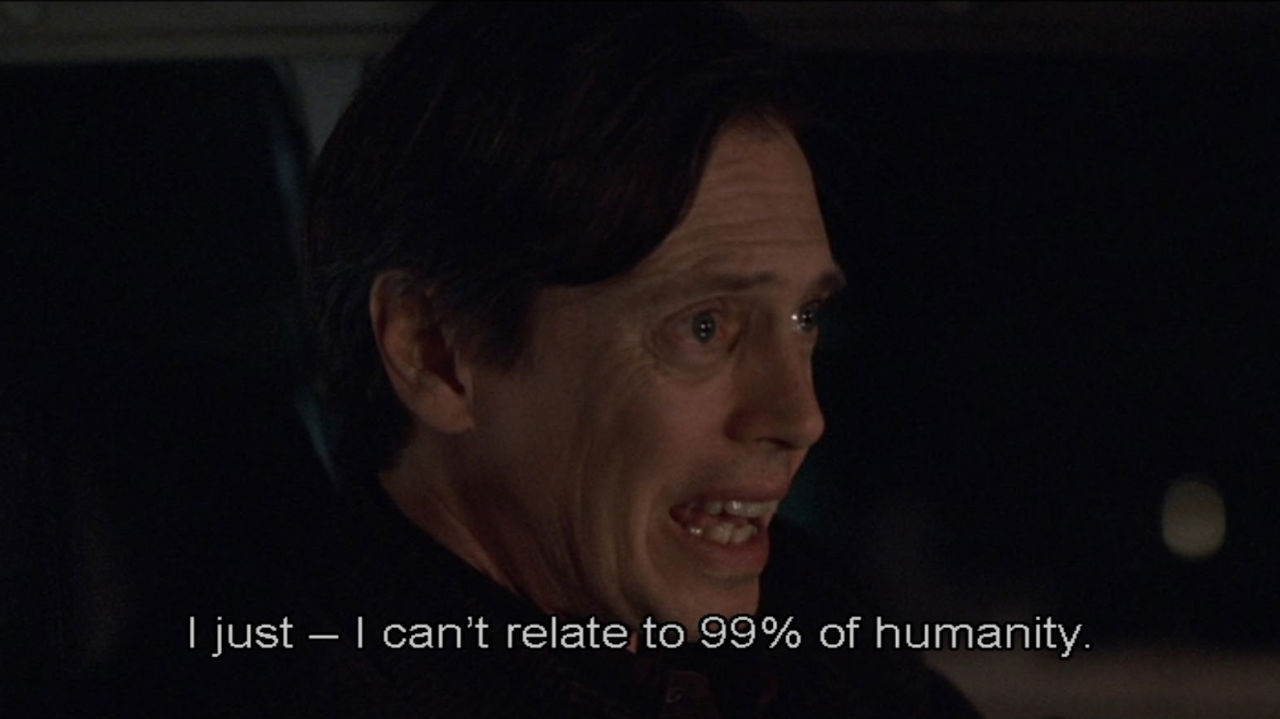 Seymour says, 'I just—I can't relate to 99% of humanity' in Ghost World.