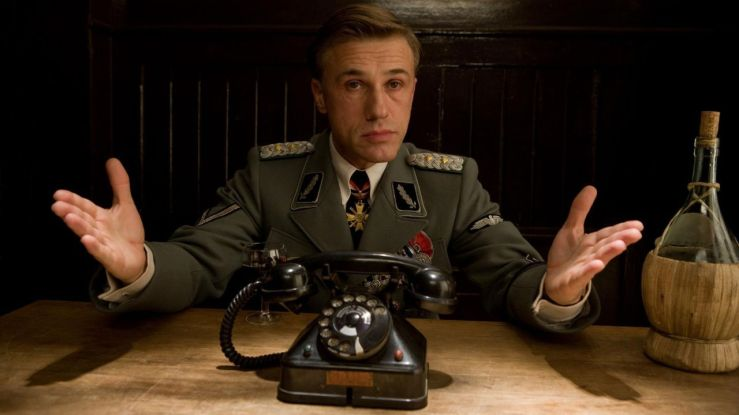 Hans Landa looking suave and collected in Inglourious Basterds