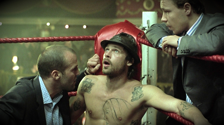 Mickey prepares for a boxing fight in Snatch