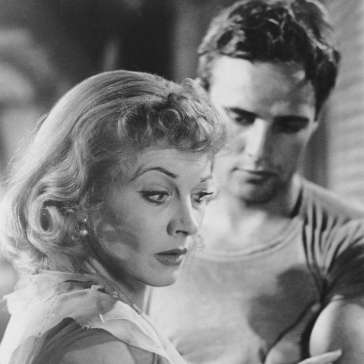 Blanche stares off dramatically in A Streetcar Named Desire