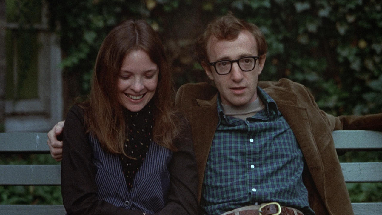 Alvy Singer and Annie Hall share a quiet moment in Annie Hall (1977)