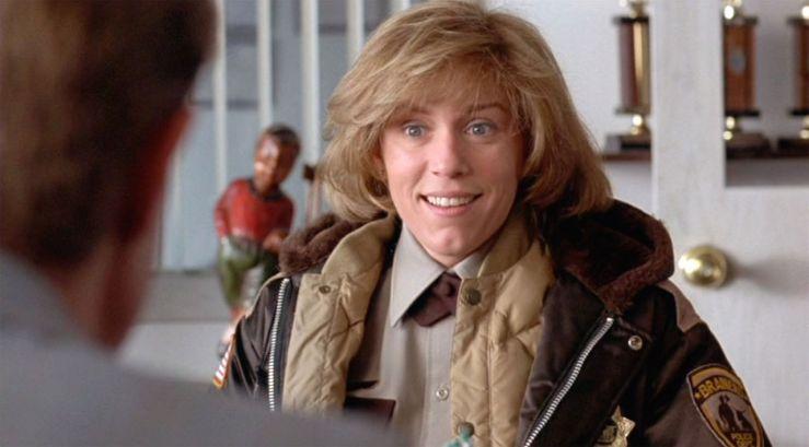 Marge Gunderson smiles in Fargo