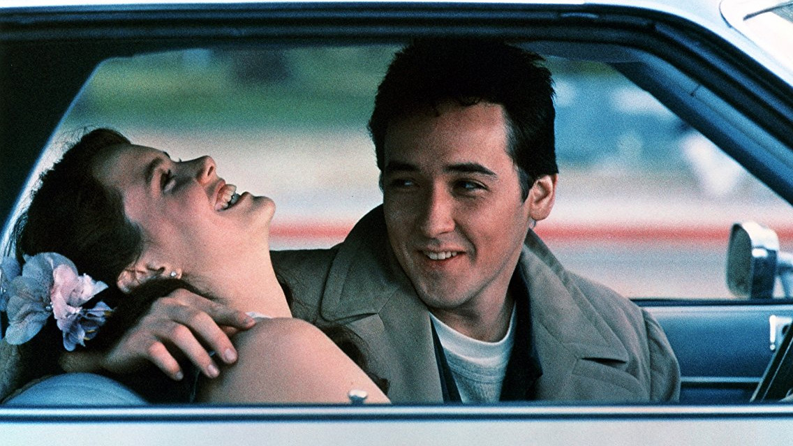 Lloyd Dobler and Diane Court share a romantic moment in Say Anything