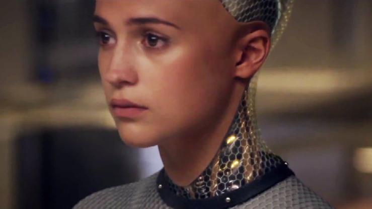 Ava looks sad in Ex Machina