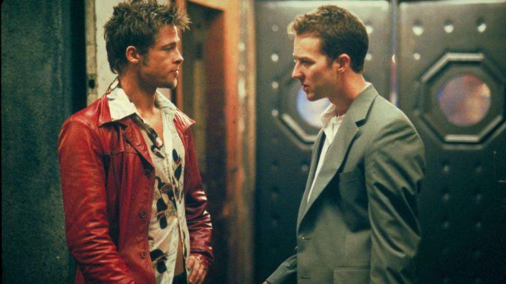 The narrator talks to Tyler Durden in Fight Club