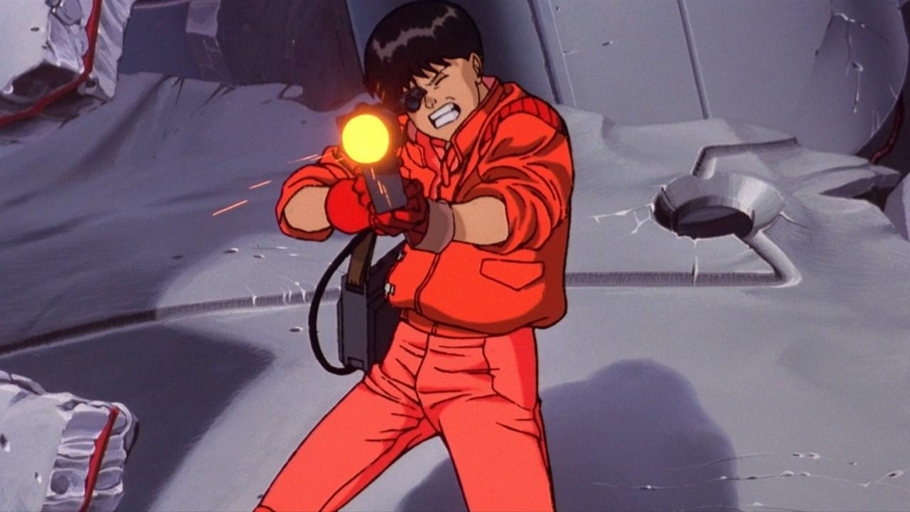 Kaneda aims a rifle in Akira