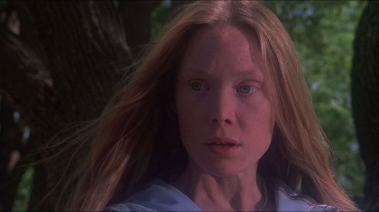 Carrie White looks nervous and slightly awkward