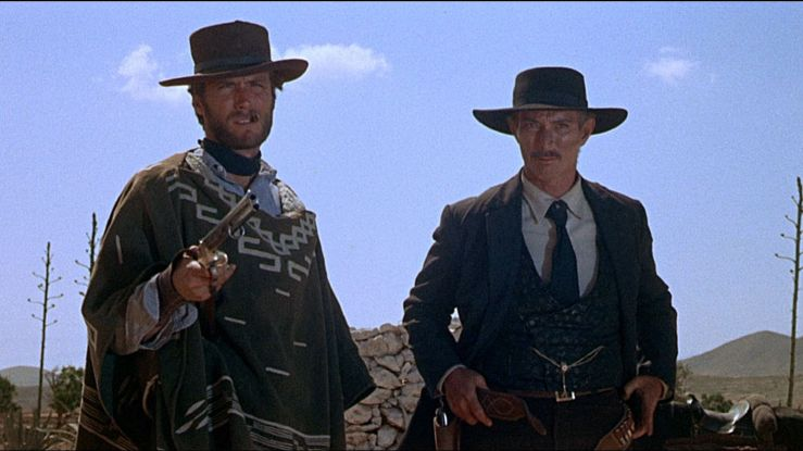 Manco and Colonel Douglas Mortimer look dapper in For a Few Dollars More