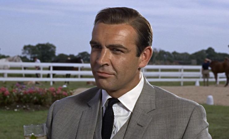 James Bond looking suave in Goldfinger