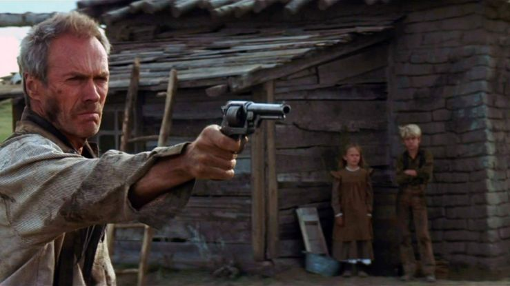 Bill Munny aims a pistol in Unforgiven