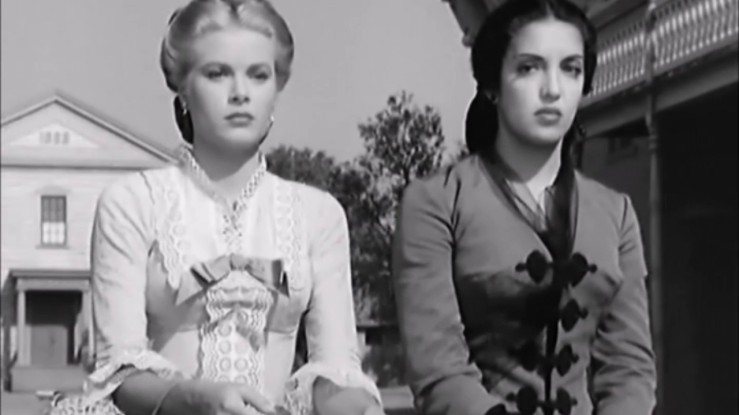 Amy Kane and Helen Ramirez share an uncomfortable wagon ride in High Noon