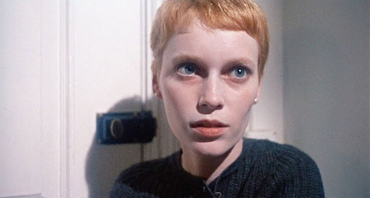 Rosemary looks scared in Rosemary's Baby