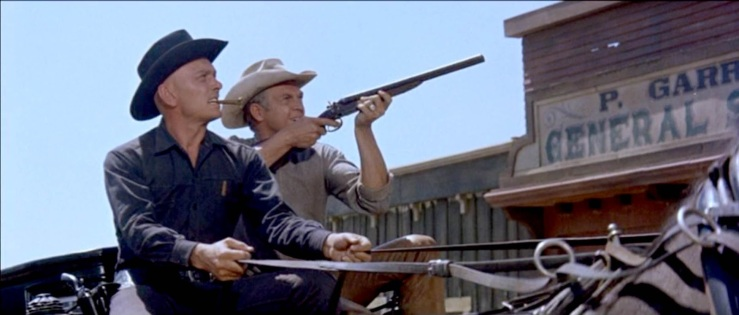 Chris and Vin drive a hearse and ride shotgun in The Magnificent Seven