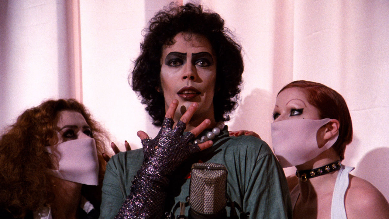 Dr. Frank-n-Furter looks saucy in The Rocky Horror Picture Show