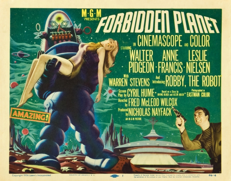 Vintage movie poster for Forbidden Planet