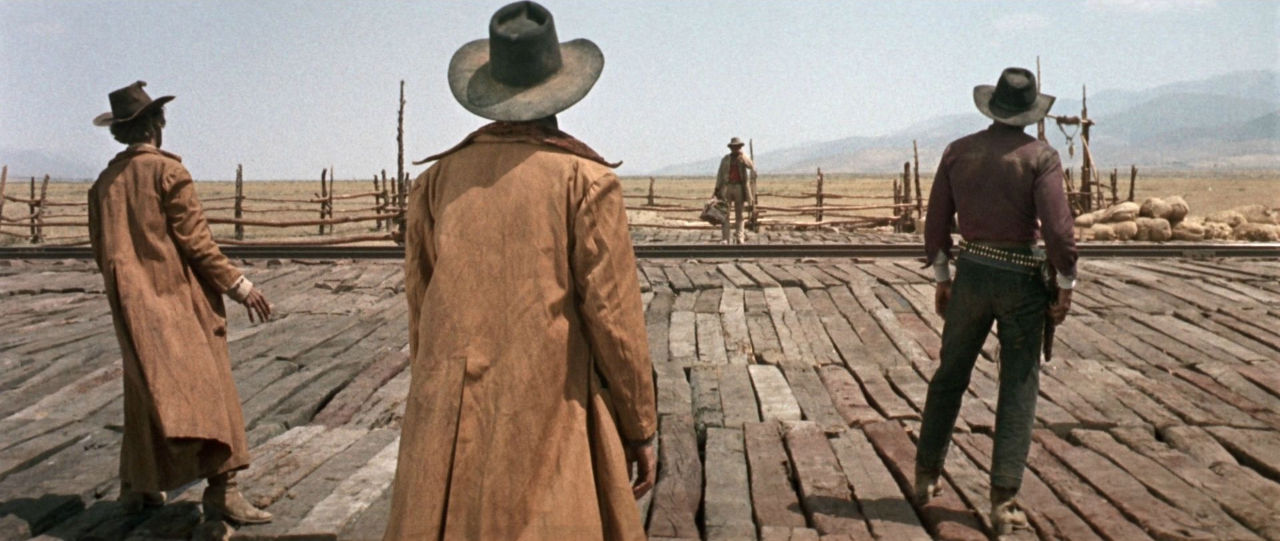 Three hired guns face off against a mysterious stranger in Once Upon a Time in the West