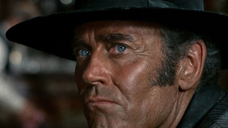 Cold killer Frank looks pensive in Once Upon a Time in the West