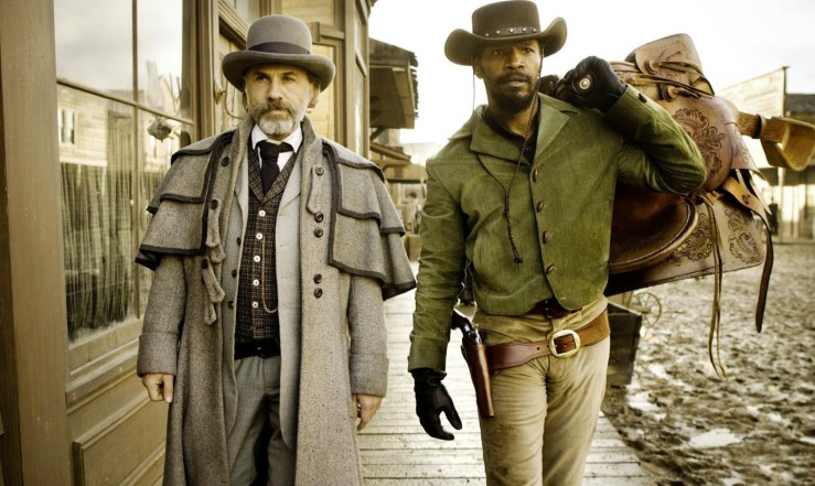 King Schultz and Django walk together in Django Unchained