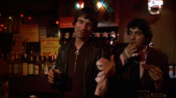 Johnny Boy flashes a wry smile in Mean Streets