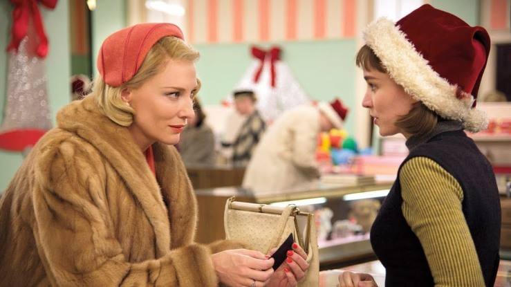 Therese and Carol meet in Carol (2015)