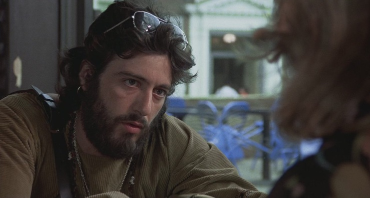 Frank Serpico has a tense conversation with his girlfriend in a diner