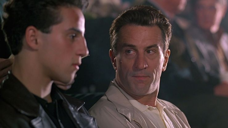 Lorenzo has a fatherly chat with Calogero in A Bronx Tale