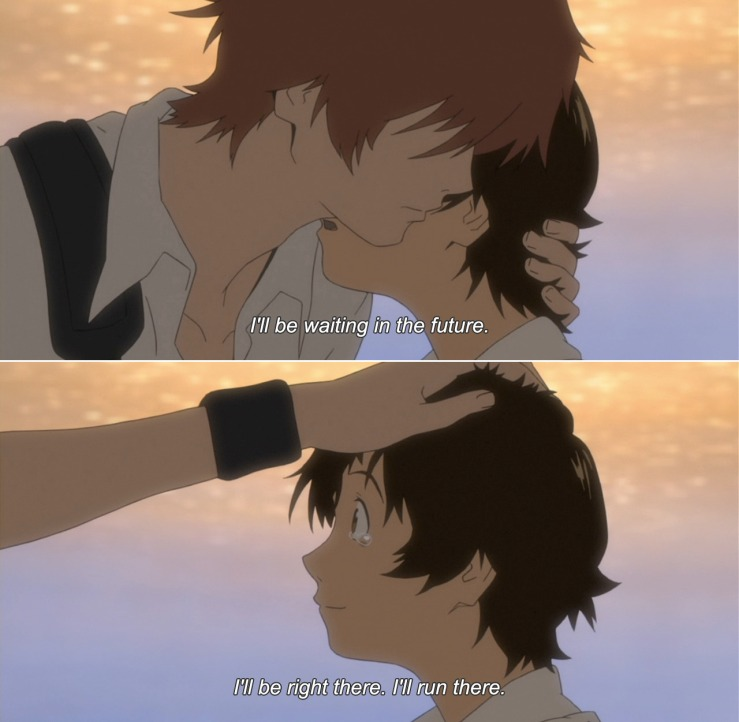 Makoto and Chiaki promise to see each other again, in The Girl Who Leapt Through Time